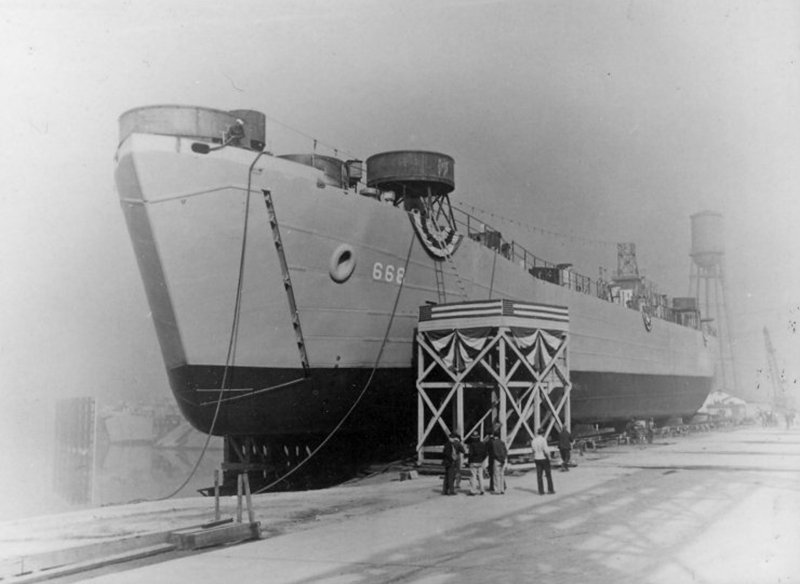 PCU-LST-668-American-Bridge-Co-Ambridge-PA-prior-to-launching-30-April-1944.jpg
